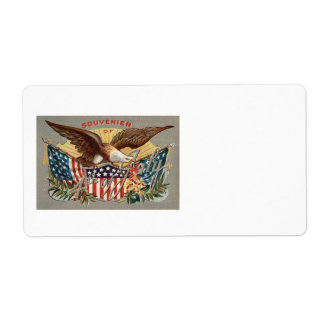 白頭鷲米国の旗の花火の爆竹 ラベル