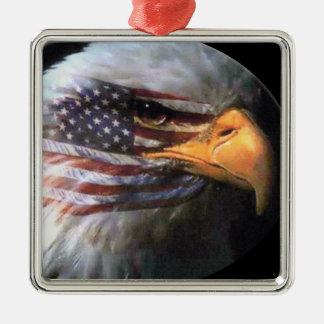 白頭鷲-米国の旗 メタルオーナメント