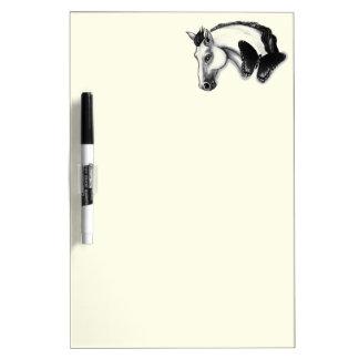 白馬および蝶デザイン ホワイトボード