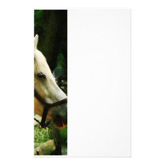 白馬のクローズアップ 便箋