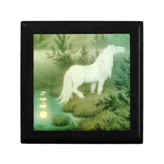 白馬のケルピー水精神のヴィンテージの芸術 ギフトボックス
