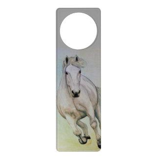 白馬のドア・ハンガー ドアノブプレート
