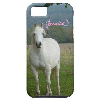 白馬の名前入りなジェシカのiPhone 5の場合 iPhone SE/5/5s ケース