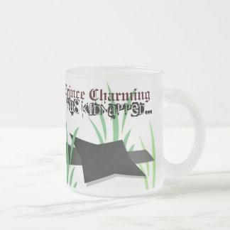 白馬の王子様マグ: 誘拐される フロストグラスマグカップ