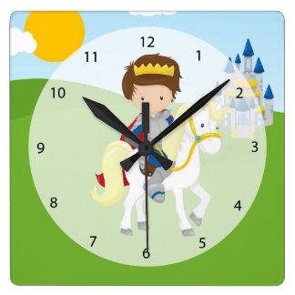 白馬の王子様 スクエア壁時計
