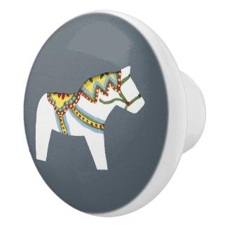 白馬の陶磁器のノブ セラミックノブ