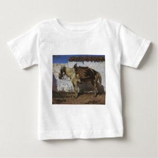 白馬。 ノルマンディー。 Vasily Polenov著 ベビーTシャツ