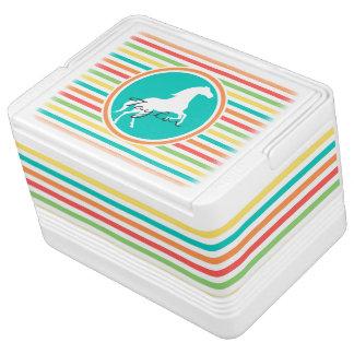 白馬; 明るい虹は縞で飾ります IGLOO クーラーボックス
