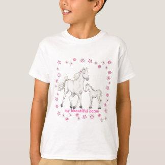 """白馬- """"私の美しい馬"""" Tシャツ"""