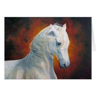 """""""白魔術""""の馬の挨拶状 カード"""