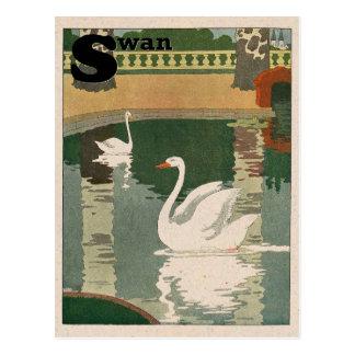 白鳥のアルファベット ポストカード