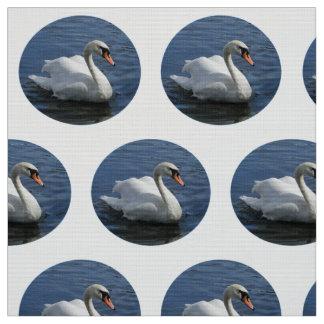 白鳥のデザインの生地 ファブリック