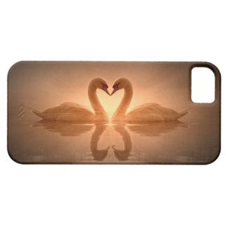白鳥のハート iPhone SE/5/5s ケース