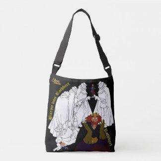 白鳥のプリンセスの両面十字の遺体袋(黒) クロスボディバッグ