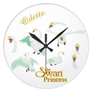 白鳥のプリンセスOdetteの柱時計 ラージ壁時計