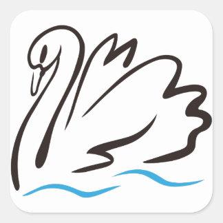 白鳥の輪郭 スクエアシール