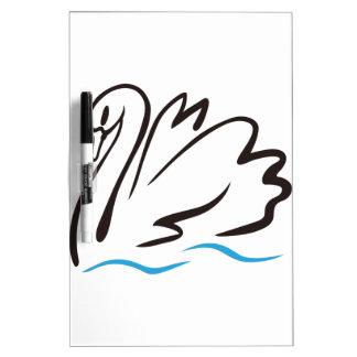 白鳥の輪郭 ホワイトボード