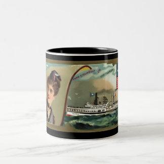 白鳥ライン広告カード ツートーンマグカップ