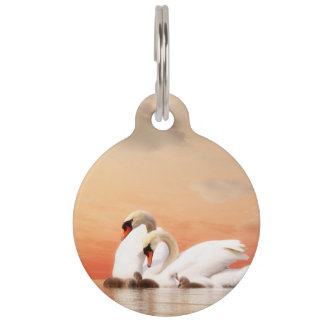 白鳥家族 ペット ネームタグ