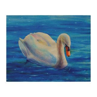白鳥 ウッドウォールアート