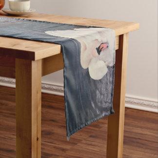白鳥 · 湖 ショートテーブルランナー