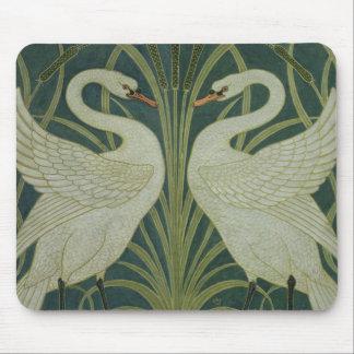 「白鳥、突進およびアイリス」壁紙のデザイン マウスパッド