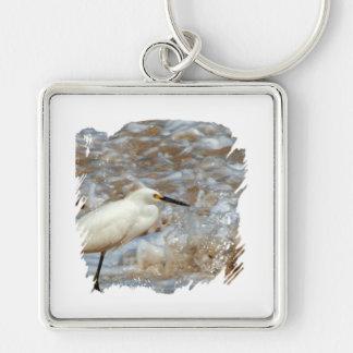 白鷺および波のしぶき キーホルダー