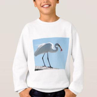 白鷺の昼食 スウェットシャツ
