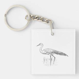 白鷺の鳥の芸術 キーホルダー