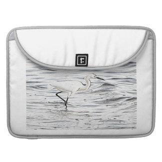 白鷺のMacBookの袖 MacBook Proスリーブ