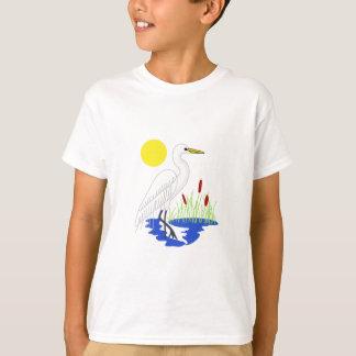 白鷺場面 Tシャツ