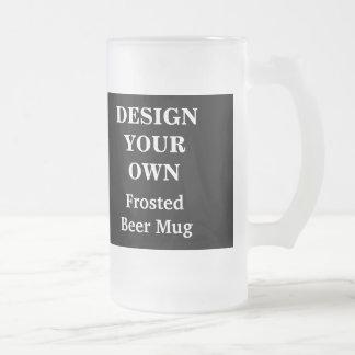 白黒あなた自身のビールのジョッキを-設計して下さい フロストグラスビールジョッキ