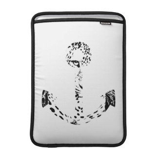 白黒いかりのヒョウの目の上敷 MacBook スリーブ