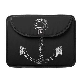 白黒いかりのファインアート MacBook PROスリーブ