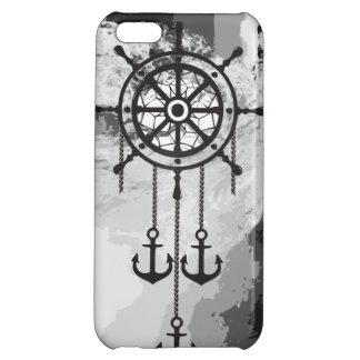 白黒いかりの夢のキャッチャーおよび海 iPhone5Cケース