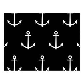 白黒いかりパターン1 ポストカード