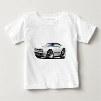 白黒い上 ベビーTシャツ
