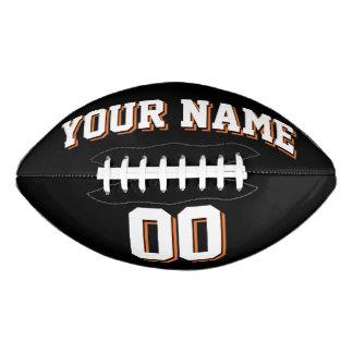 白黒およびオレンジの習慣のフットボール アメリカンフットボール