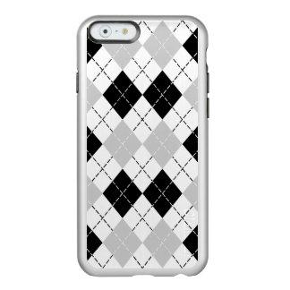 白黒および灰色のアーガイルのiPhone6ケース Incipio Feather Shine iPhone 6ケース