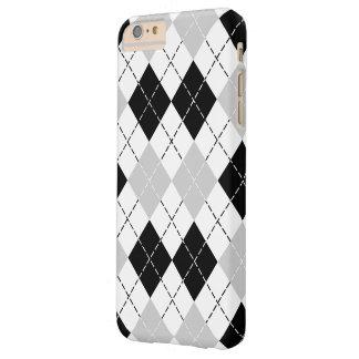 白黒および灰色のアーガイル スキニー iPhone 6 PLUS ケース