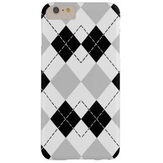白黒および灰色のアーガイル iPhone 6 PLUS ベアリーゼアケース
