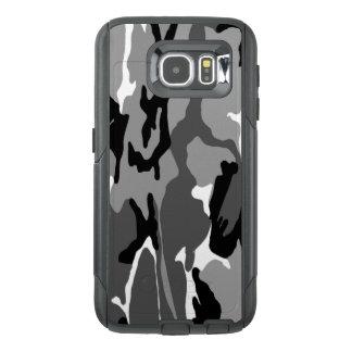 白黒および灰色の北極迷彩柄 オッターボックスSamsung GALAXY S6ケース