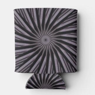 白黒および灰色の渦巻形のなテンプレートの抽象美術 缶クーラー