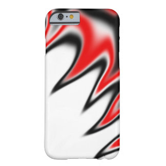 白黒および赤 BARELY THERE iPhone 6 ケース