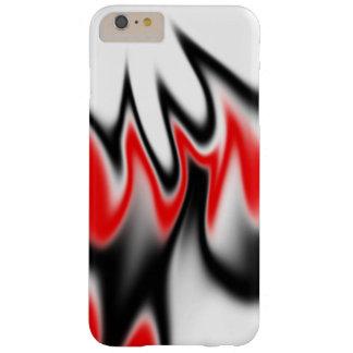 白黒および赤 BARELY THERE iPhone 6 PLUS ケース