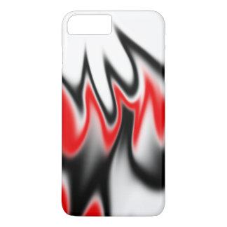 白黒および赤 iPhone 8 PLUS/7 PLUSケース