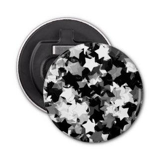 白黒かわいいの星の背景 栓抜き