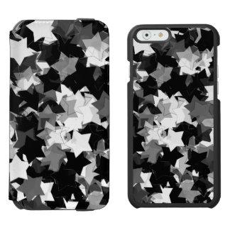 白黒かわいいの星の背景 INCIPIO WATSON™ iPhone 5 財布型ケース