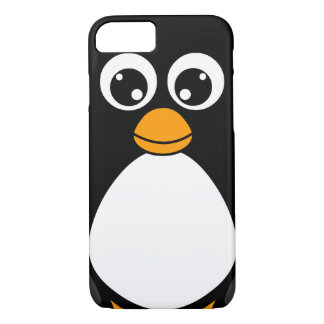 白黒かわいい漫画のペンギン iPhone 8/7ケース