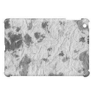 白黒しわを寄せられたペーパータオルのイメージ iPad MINIケース